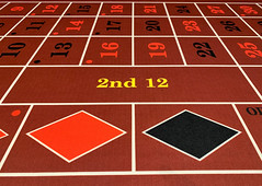 Roulette table red and black