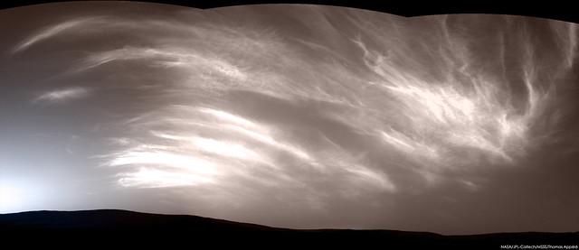 Noctilucent martian clouds - sol 2410