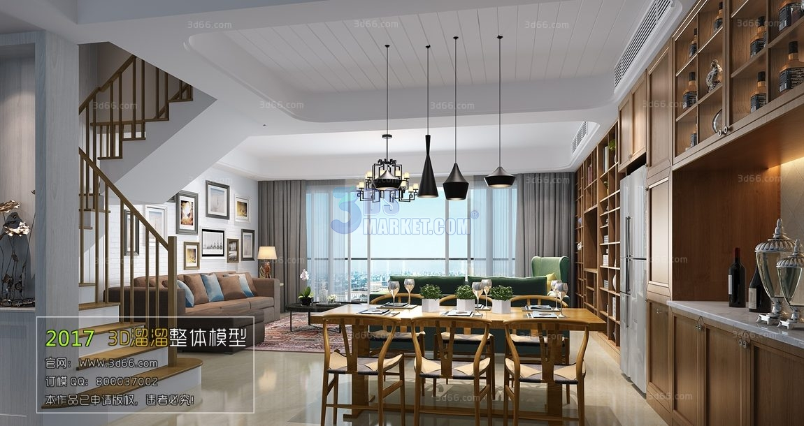 Amazing Dining Room Kitchen Model 004 Modern Style 3D66 3Ds Download Free Architecture Designs Grimeyleaguecom