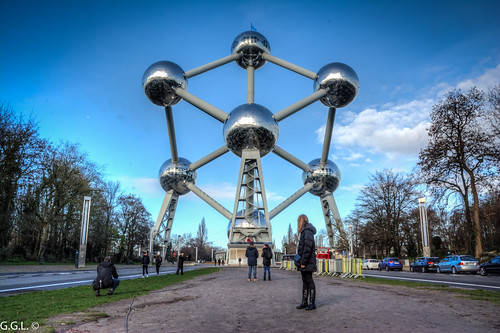 Atomium. Brussel. Ijzerkristal.