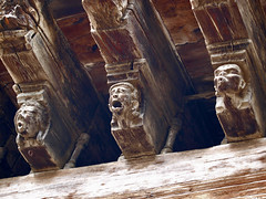 Carvings on the 'Maison des Consuls' (Council House), Mirepoix, France. - Photo of Lagarde