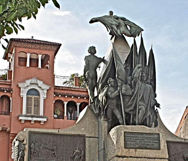 Plaza Simon Bolivar, Casco Viejo, Panama City, Panama, Central America