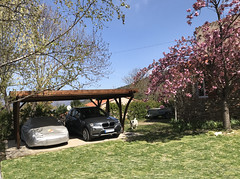 Carport bois Palerme 2 voitures - Photo of Estoher