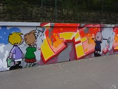 Le mur du square Henri Karcher
