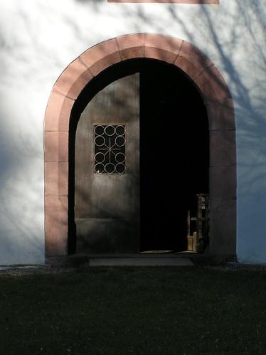 20100417 163 Frammersbach Kreuzkapelle Portal Tür