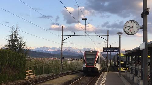 RABe 520 012-1 SBB CFF FFS in Eschenbach station Switzerland