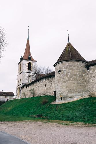 Part of Murten's wall