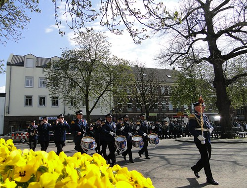 Militia parade in Elten