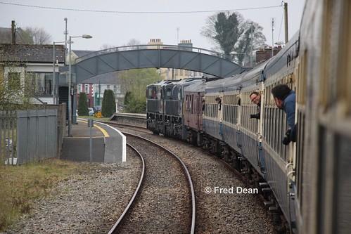 Irish Rail 075 + 082 in Ballyhaunis.