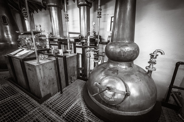 Kilchoman Distillery Spirit Still and Spirit Safe