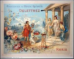 Affiche de la parfumerie Delettrez (Musée international de la parfumerie, Grasse)