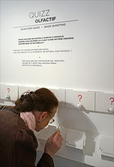 Jeu de reconnaissance olfactive sur les parfums (Musée international de la parfumerie, Grasse)