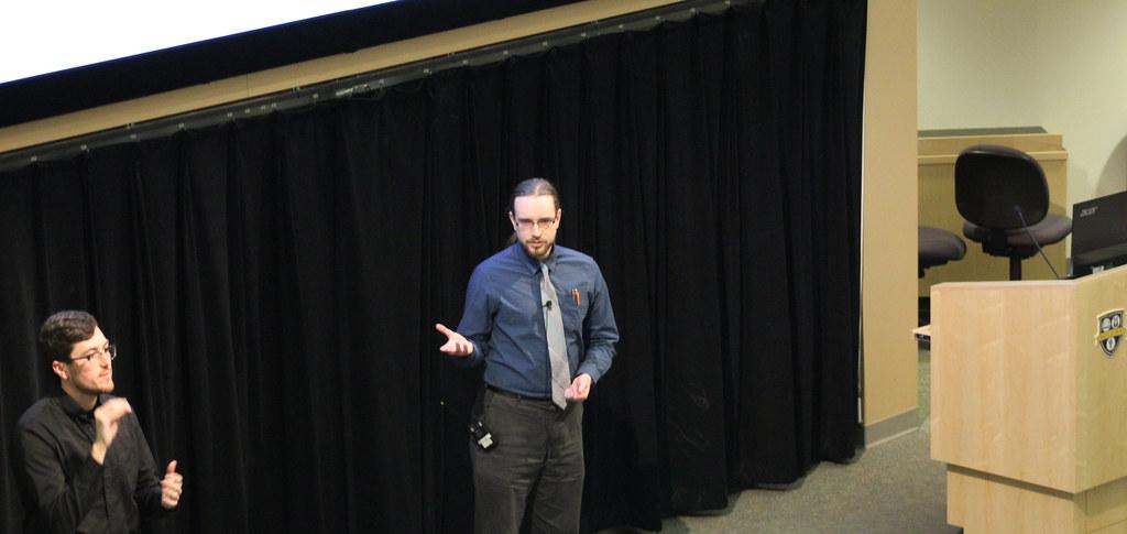 Rainier Barrett presenting