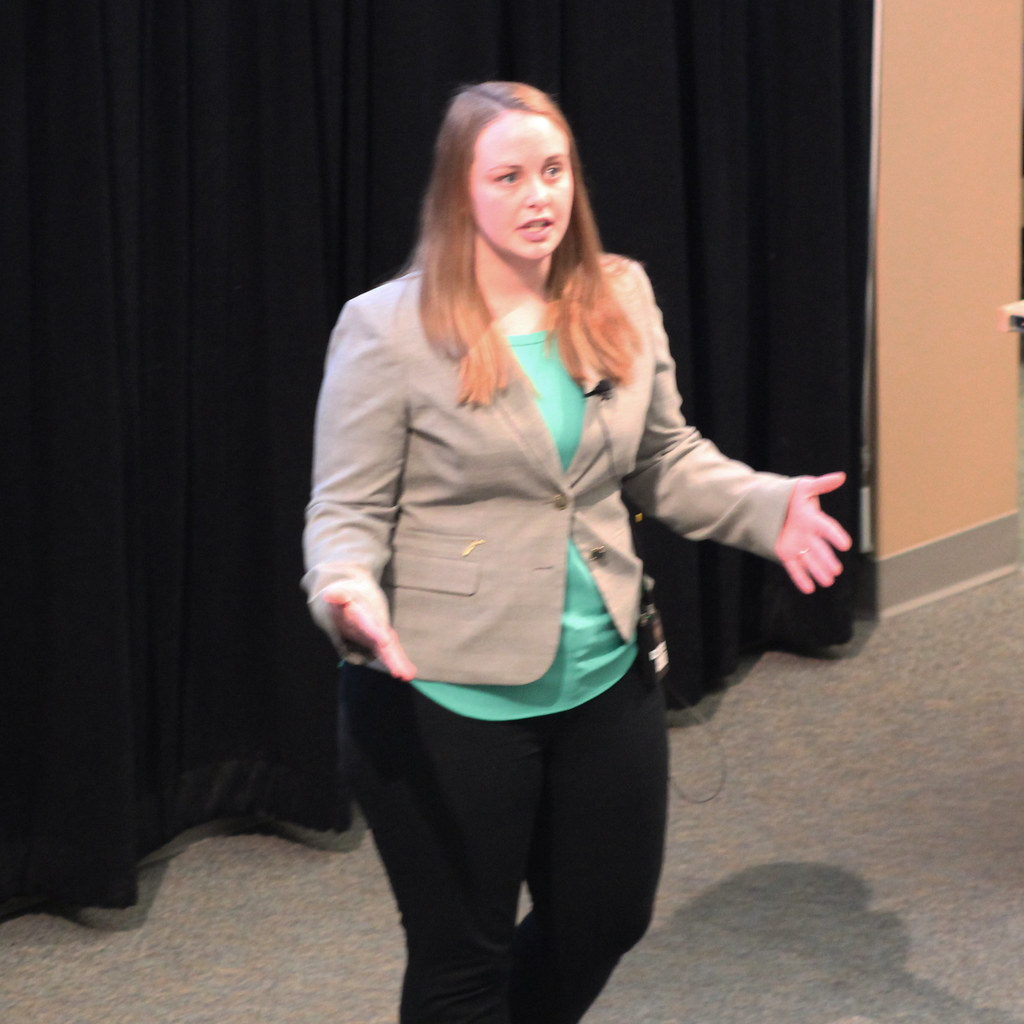 Emily Warner presenting
