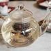 Rose hip tea infusing