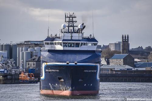 Highland Prestige - Aberdeen Harbour Scotland - 14th April 2019
