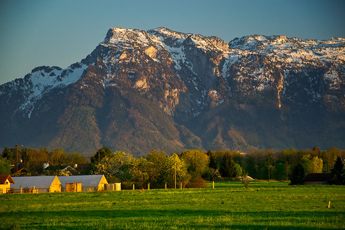 The Untersberg on a warm evening in April