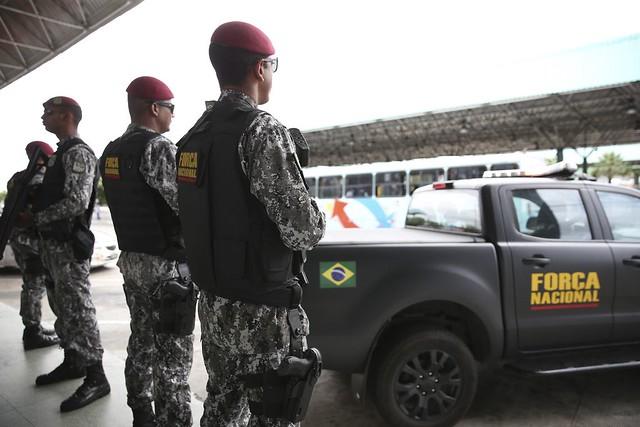 Força Nacional é empregada a pedido de governadores estaduais e em caso de necessidade de  reforço da segurança local - Créditos: Brasil de Fato | Brasília (DF)