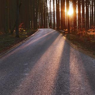 The last rays of light -