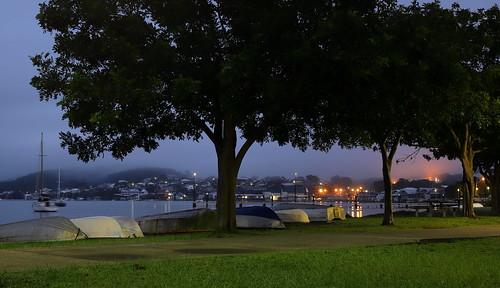 Belmont at dawn.