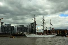 The yaycht Christian Radich,moored at Greennwich. Nikon D3100. DSC_0009