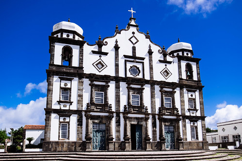 Main church in Santa Cruz das Flores - Azores Islands