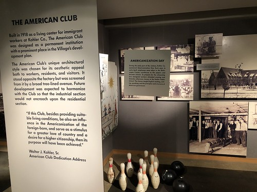 Historical display on The American Club, Kohler Design Center, Kohler, Wisconsin
