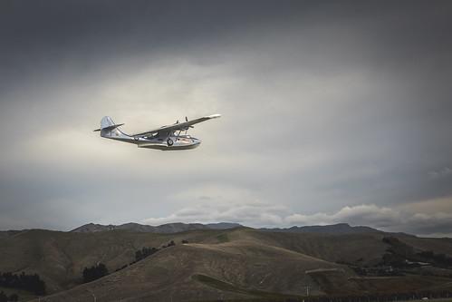 Catalina above Omaka hills Omaka Airshow 2019