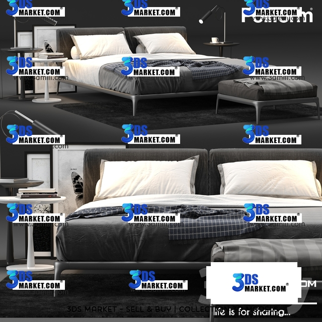 The Collection of Bed 3DSky Model Part 1 - 3DS Market | Sell