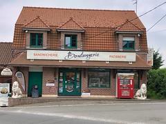 Boulangerie in Estree-Blanche, Frankreichche, Frankreich