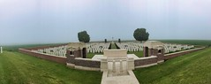 Englischer Soldatenfriedhof in Sailly-Saillisel,, Frankreich