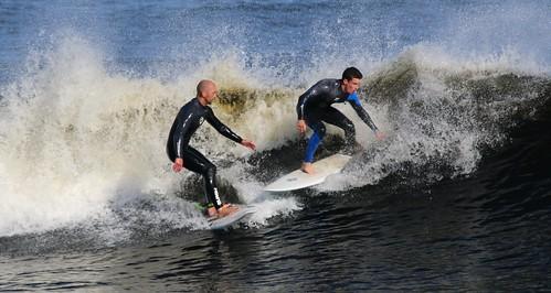 Watch out mate! Sligo Surfers. Easky, County Sligo, Ireland