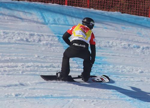 Anton Lindfors (FIN). Snowboard Cross World Cup, Veysonnaz, 16/03/2019