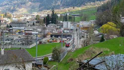 Changed railway infrastructure Poschiavo: From north (1/4)