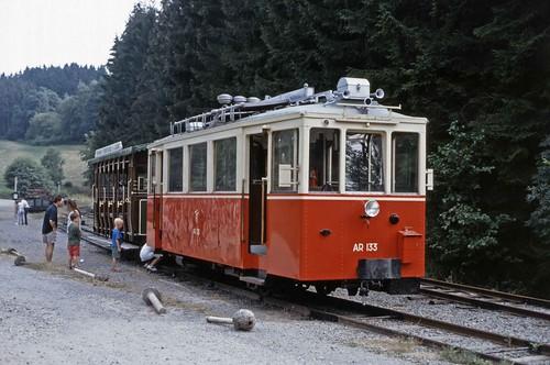 TTA Vicinal railcar at Pont d'Erézée