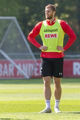 1. FC Köln Spieler Lasse Sobiech aus der Abwehr beim Fußballtraining