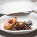 Mignardes - raspberry financier, chocolate hazelnut tart, charcoal tuile