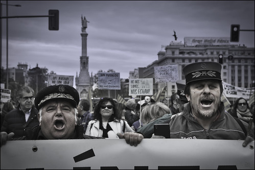 Protest. Manifestación. Madrid, March 2019.