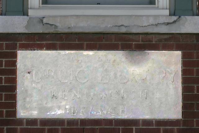 Hamilton Public Library Kenilworth Branch sign shadow
