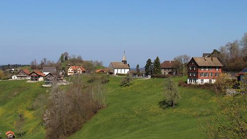 Zürcher Oberland - Blick nach Sternenberg (870 m.ü.M.)