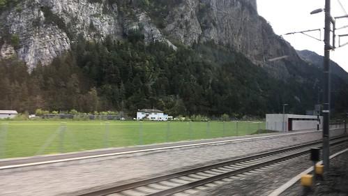 Vor drei Jahren war hier noch die Baustelle für den Gotthard Basistunnel, nun sieht man nichts mehr