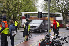 Forrest Road Protected cycle lane Pedal on Parliament pop up POP.
