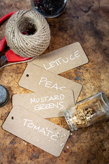 Handwritted Seed Packets For Heirloom Seeds