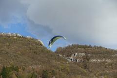 Paraglider @ Les Esserts @ Talloires @ Hike to Château de Menthon, Rochers des Moillats & Ermitage de Saint-Germain
