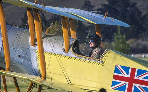 Bristol Scout - a pilot in a happy place...