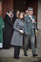 Princesse Marie et Prince Joachim de Danemark à la sortie de l'Office œcuménique à l'église de Braine pour le Centenaire de l'Armistice de la Première Guerre Mondiale