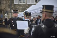 Harmonie militaire danoise devant le monument aux morts de Braine pour le Centenaire de l'Armistice de la Première Guerre Mondiale
