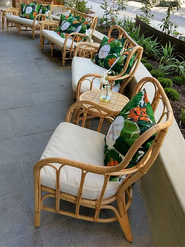 From the Mall: Chairs,  Bradley Street Dining Precinct, Woden, ACT, Australia