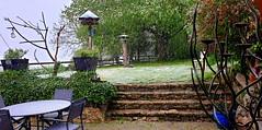 Le 4 Mai et il neige à gros flocons!!! Grrrr!!!