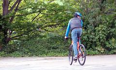 Cycling by Ashton Avenue Bridge